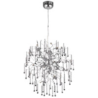 Elegant Lighting Astro 18 Light Dining Chandelier in Chrome with Royal Cut Clear Crystal 2075D33C/RC