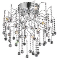 Elegant Lighting V2075F18C/RC Astro 6 Light 18 inch Chrome Flush Mount Ceiling Light