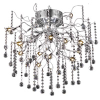 Elegant Lighting Astro 12 Light Flush Mount in Chrome with Royal Cut Clear Crystal 2075F24C/RC
