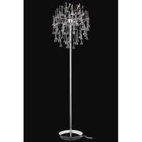 Elegant Lighting Astro 9 Light Floor Lamp in Chrome with Royal Cut Clear Crystal 2075FL18C/RC