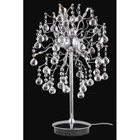 Elegant Lighting Astro 6 Light Table Lamp in Chrome with Royal Cut Clear Crystal 2075TL14C/RC