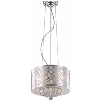 Elegant Lighting Prism 3 Light Pendant in Chrome with Royal Cut Clear Crystal 2078D12C/RC