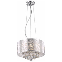 Elegant Lighting V2078D14C/RC Prism 3 Light 14 inch Chrome Pendant Ceiling Light