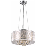 Elegant Lighting V2078D16C/RC Prism 4 Light 16 inch Chrome Dining Chandelier Ceiling Light