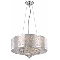 Elegant Lighting Prism 7 Light Dining Chandelier in Chrome with Royal Cut Clear Crystal 2078D20C/RC - Open Box