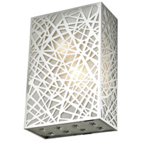 Elegant Lighting V2078W8C/RC Prism 2 Light 4 inch Chrome Wall Sconce Wall Light