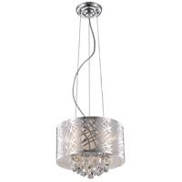 Elegant Lighting Prism 3 Light Pendant in Chrome with Royal Cut Clear Crystal 2079D12C/RC