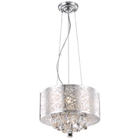 Elegant Lighting Prism 3 Light Pendant in Chrome with Royal Cut Clear Crystal 2079D14C/RC