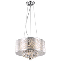 Elegant Lighting V2079D16C/RC Prism 4 Light 16 inch Chrome Dining Chandelier Ceiling Light