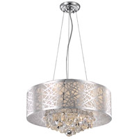 Elegant Lighting V2079D20C/RC Prism 7 Light 20 inch Chrome Dining Chandelier Ceiling Light