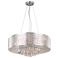 Elegant Lighting Prism 9 Light Dining Chandelier in Chrome with Royal Cut Clear Crystal 2079D24C/RC