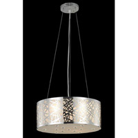 Elegant Lighting Prism 4 Light Pendant in Chrome with Royal Cut Clear Crystal 2081D16C/RC