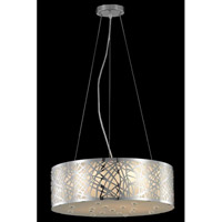 Elegant Lighting Prism 6 Light Dining Chandelier in Chrome with Royal Cut Clear Crystal 2081D20C/RC