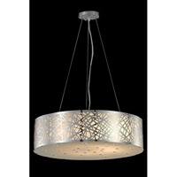Elegant Lighting Prism 8 Light Dining Chandelier in Chrome with Royal Cut Clear Crystal 2081D24C/RC