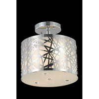 Elegant Lighting Prism 2 Light Flush Mount in Chrome with Royal Cut Clear Crystal 2081F10C/RC