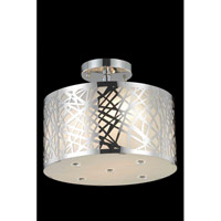 Elegant Lighting Prism 2 Light Flush Mount in Chrome with Royal Cut Clear Crystal 2081F12C/RC