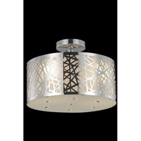 Elegant Lighting Prism 3 Light Flush Mount in Chrome with Royal Cut Clear Crystal 2081F14C/RC