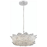 Elegant Lighting Lotus 6 Light Pendant in Chrome with Elegant Cut Clear Crystal 2083D16C/EC