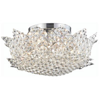 Lotus 6 Light 16 inch Chrome Flush Mount Ceiling Light