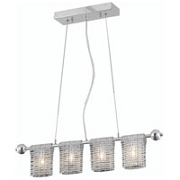 Elegant Lighting Vivid 4 Light Dining Chandelier in Chrome with Elegant Cut Clear Crystal 2085D28C/EC