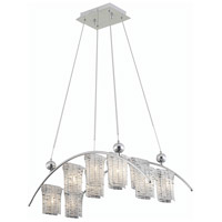 Elegant Lighting Vivid 10 Light Dining Chandelier in Chrome with Elegant Cut Clear Crystal 2085D31C/EC