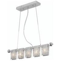 Elegant Lighting 2085D33C/EC Vivid 5 Light 3 inch Chrome Dining Chandelier Ceiling Light