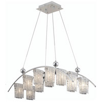 Elegant Lighting Vivid 12 Light Dining Chandelier in Chrome with Elegant Cut Clear Crystal 2085D35C/EC