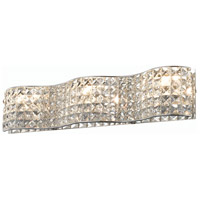 Elegant Lighting Concept 3 Light Wall Sconce in Chrome with Elegant Cut Clear Crystal 2087W24C/EC