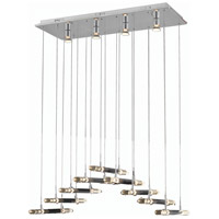 Elegant Lighting Alpha 22 Light Dining Chandelier in Chrome with Elegant Cut Clear Crystal 2089D32C/EC