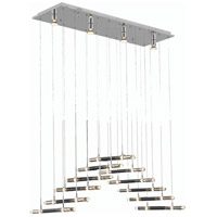 Elegant Lighting Alpha 26 Light Dining Chandelier in Chrome with Elegant Cut Clear Crystal 2089D41C/EC
