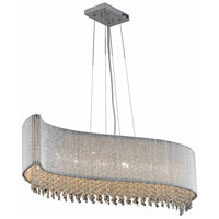 Elegant Lighting Influx 8 Light Dining Chandelier in Chrome with Elegant Cut Clear Crystal 2090D44C/EC