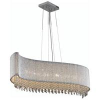 Elegant Lighting V2090D44C/RC Influx 8 Light 14 inch Chrome Chandelier Ceiling Light in Royal Cut