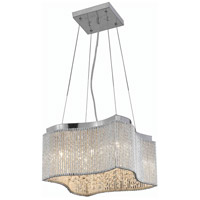 Elegant Lighting Influx 8 Light Pendant in Chrome with Elegant Cut Clear Crystal 2091D16C/EC