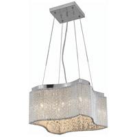 Elegant Lighting V2091D16C/RC Influx 8 Light 16 inch Chrome Pendant Ceiling Light in Royal Cut