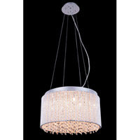 Elegant Lighting Influx 10 Light Pendant in Chrome with Royal Cut Clear Crystal 2092D16C/RC