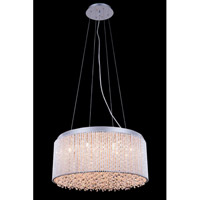 Elegant Lighting Influx 12 Light Pendant in Chrome with Royal Cut Clear Crystal 2092D20C/RC