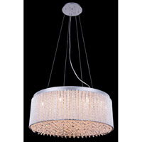 Influx 14 Light 24 inch Chrome Pendant Ceiling Light