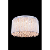 Elegant Lighting Influx 10 Light Flush Mount in Chrome with Royal Cut Clear Crystal 2092F16C/RC