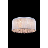 Elegant Lighting Influx 12 Light Flush Mount in Chrome with Royal Cut Clear Crystal 2092F20C/RC