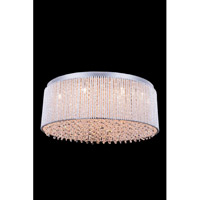 Elegant Lighting Influx 14 Light Flush Mount in Chrome with Royal Cut Clear Crystal 2092F24C/RC