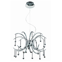 Elegant Lighting Hydra 20 Light Dining Chandelier in Chrome with Royal Cut Clear Crystal 2093D24C/RC