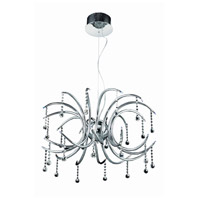 Elegant Lighting Hydra 24 Light Dining Chandelier in Chrome with Royal Cut Clear Crystal 2093D28C/RC
