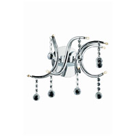 Elegant Lighting Hydra 8 Light Wall Sconce in Chrome with Royal Cut Clear Crystal 2093W14C/RC