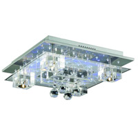 Elegant Lighting Karma 5 Light Flush Mount in Chrome with Elegant Cut Clear Crystal 2095F18C/EC