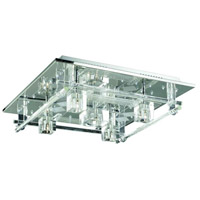 Elegant Lighting Karma 4 Light Flush Mount in Chrome with Elegant Cut Clear Crystal 2095F20C/EC