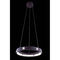 Elegant Lighting InfinityPendant in Brown with Royal Cut Clear Crystal 2096D18BN/RC