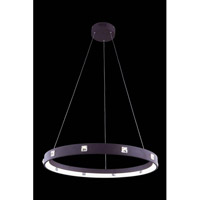 Elegant Lighting InfinityPendant in Brown with Royal Cut Clear Crystal 2096D29BN/RC