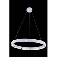 Elegant Lighting InfinityPendant in White with Royal Cut Clear Crystal 2096D29WH11/RC