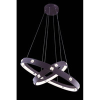 Elegant Lighting InfinityPendant in Brown with Royal Cut Clear Crystal 2096G29BN/RC - Open Box