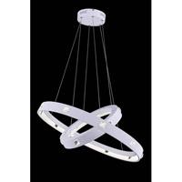 Elegant Lighting 2096G29WH/RC Infinity LED 30 inch White Pendant Ceiling Light